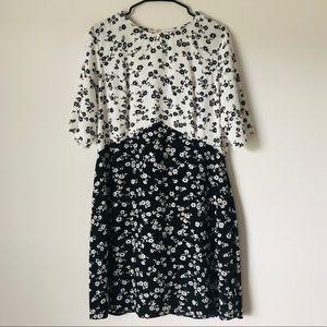 ASOS Black and White short floral dress